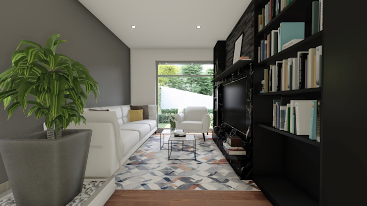Living room by DISARQ ARQUITECTOS.
