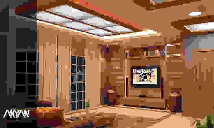 حديث  تنفيذ AKYAN SQUARE , حداثي خشب Wood effect