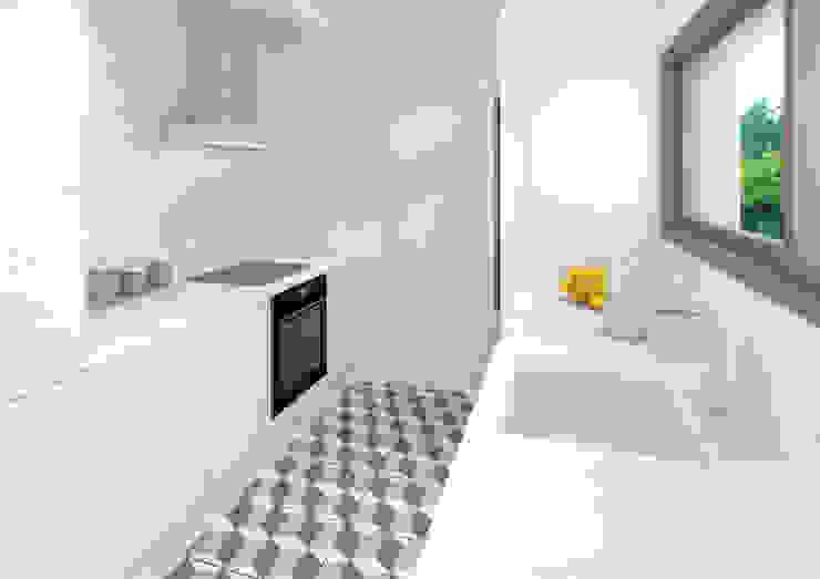 Casa prefabricada en hormigón en Madrid Modelo Family Cocina Trenta Casas Prefabricadas de Hormigón en Madrid Cocinas de estilo moderno Concreto Blanco