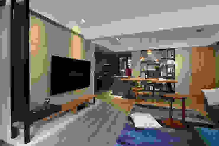 臨沂街-輕工業風 星葉室內裝修有限公司 客廳