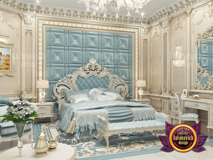 Elegantly Lavish Bedroom Design by Luxury Antonovich Design