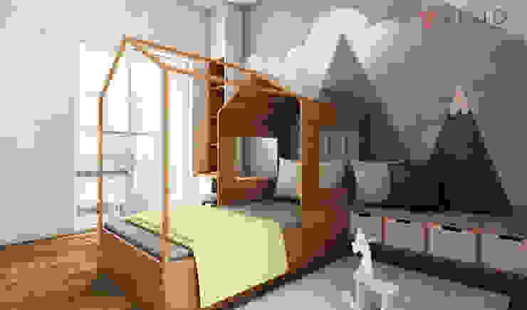 Tomang Residence:  Kamar tidur kecil by PT VISIO GEMILANG ABADI