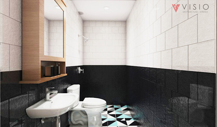 Scandinavian style bathroom by PT VISIO GEMILANG ABADI Scandinavian Ceramic