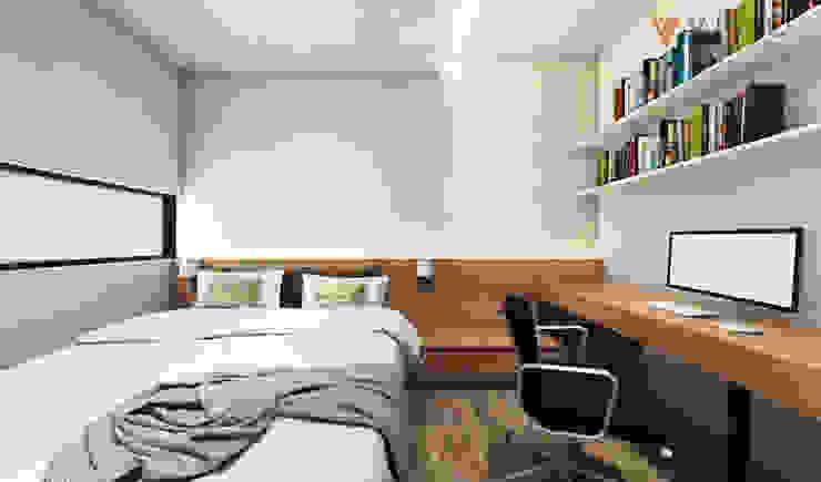Tomang Residence Kamar Tidur Gaya Skandinavia Oleh PT VISIO GEMILANG ABADI Skandinavia Kayu Lapis