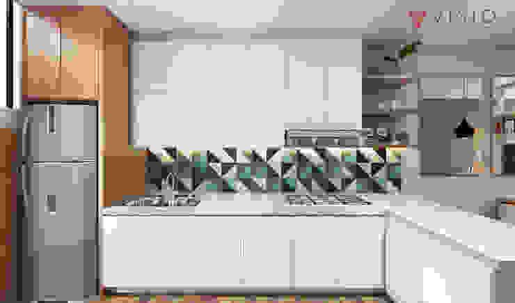 Tomang Residence Dapur Gaya Skandinavia Oleh PT VISIO GEMILANG ABADI Skandinavia Kayu Lapis