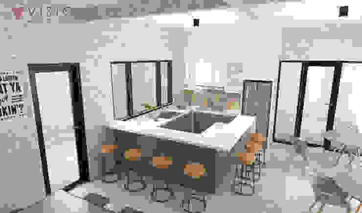 Office Pantry Kantor & Toko Modern Oleh PT VISIO GEMILANG ABADI Modern Kayu Lapis