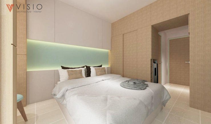 Bedroom by PT VISIO GEMILANG ABADI, Minimalist Engineered Wood Transparent