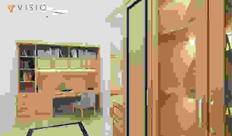 Gading Mediterania Residence Ruang Studi/Kantor Gaya Mediteran Oleh PT VISIO GEMILANG ABADI Mediteran Kayu Lapis