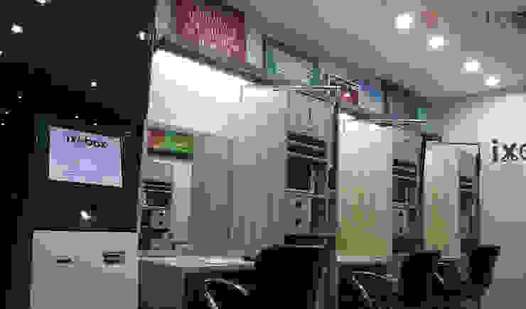 IXOBOX Barbershop Ruang Studi/Kantor Modern Oleh PT VISIO GEMILANG ABADI Modern Kayu Lapis