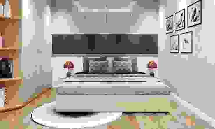 Kleines Schlafzimmer von CÔNG TY THIẾT KẾ NHÀ ĐẸP SANG TRỌNG CEEB