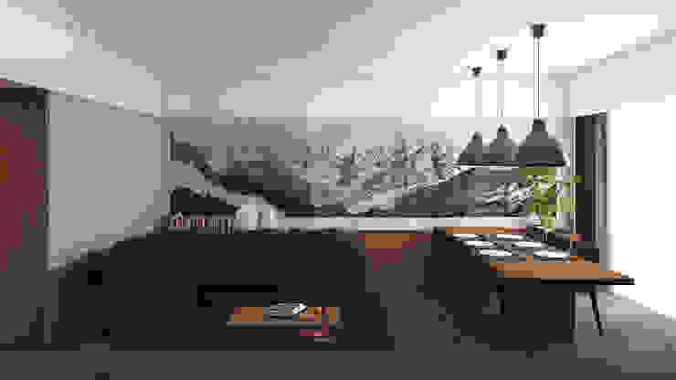 Living: Soggiorno in stile  di ALESSIO LO BELLO ARCHITETTO a Palermo,