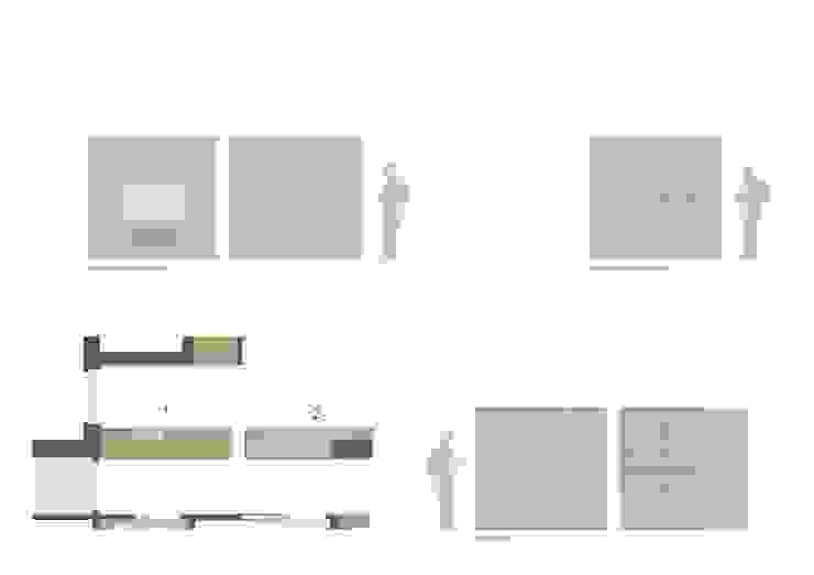 disegno esecutivo arredi ingresso/living/corridoio:  in stile  di ALESSIO LO BELLO ARCHITETTO a Palermo,
