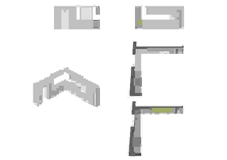 disegno esecutivo cucina:  in stile  di ALESSIO LO BELLO ARCHITETTO a Palermo,