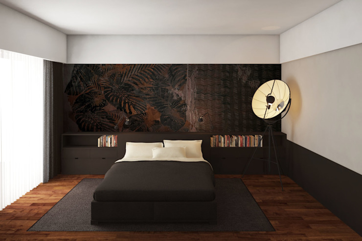 camera matrimoniale: Camera da letto in stile  di ALESSIO LO BELLO ARCHITETTO a Palermo,
