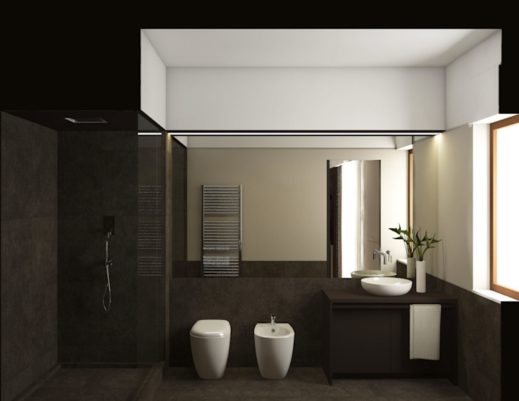 bagno in camera: Bagno in stile  di ALESSIO LO BELLO ARCHITETTO a Palermo,