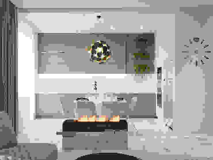 Квартира 3-х комнатная в современном стиле, ул. Дмитриевская: Кухни в . Автор – Vinterior - дизайн интерьера,