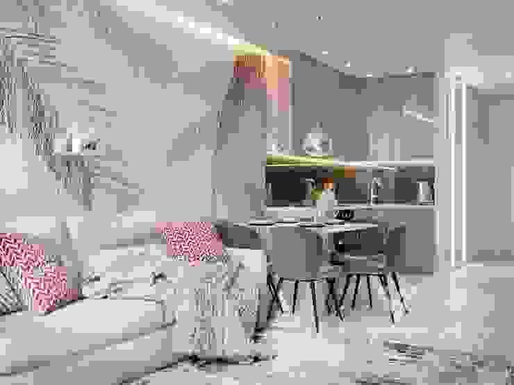 Deisgn interior for family with 2 kids Modern kitchen by Vinterior - дизайн интерьера Modern