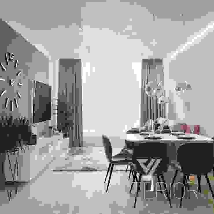 Deisgn interior for family with 2 kids Moderne Esszimmer von Vinterior - дизайн интерьера Modern