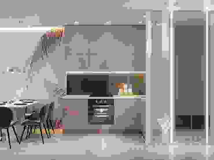 Deisgn interior for family with 2 kids Moderne Küchen von Vinterior - дизайн интерьера Modern