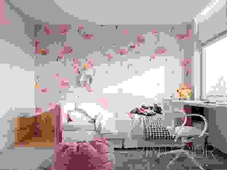 Deisgn interior for family with 2 kids Moderne Kinderzimmer von Vinterior - дизайн интерьера Modern