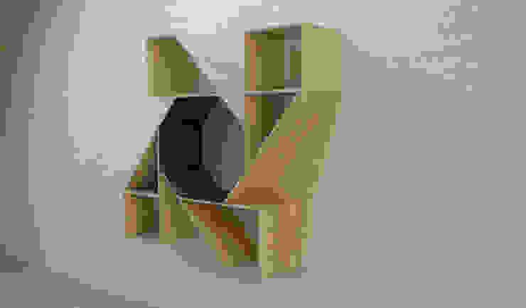 Biblioteca de Objart Rústico Madera Acabado en madera
