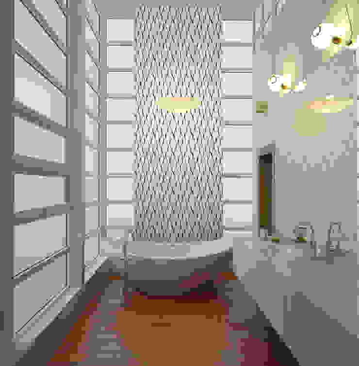 Papel tapiz personalizado en baño. Baños de estilo clásico de Kromart Wallcoverings - Papel Tapiz Personalizado Clásico