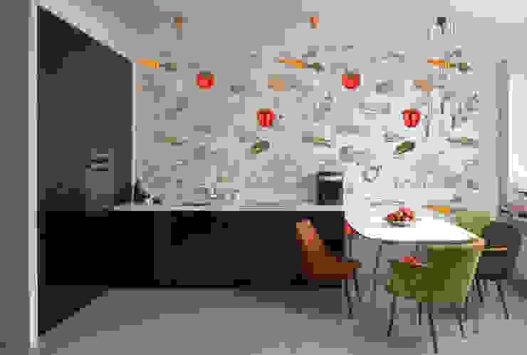 Papel tapiz personalizado en cocina. de Kromart Wallcoverings - Papel Tapiz Personalizado Moderno