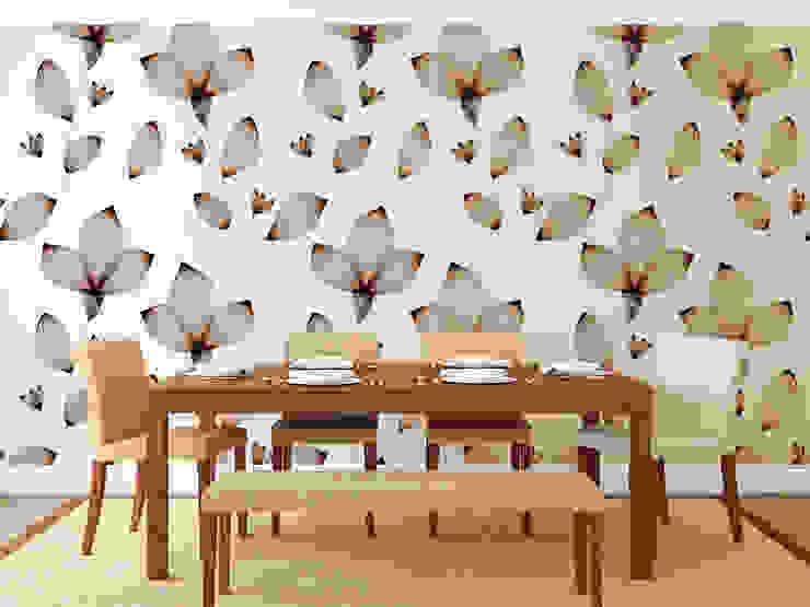 Papel tapiz personalizado en comedor. Comedores de estilo clásico de Kromart Wallcoverings - Papel Tapiz Personalizado Clásico