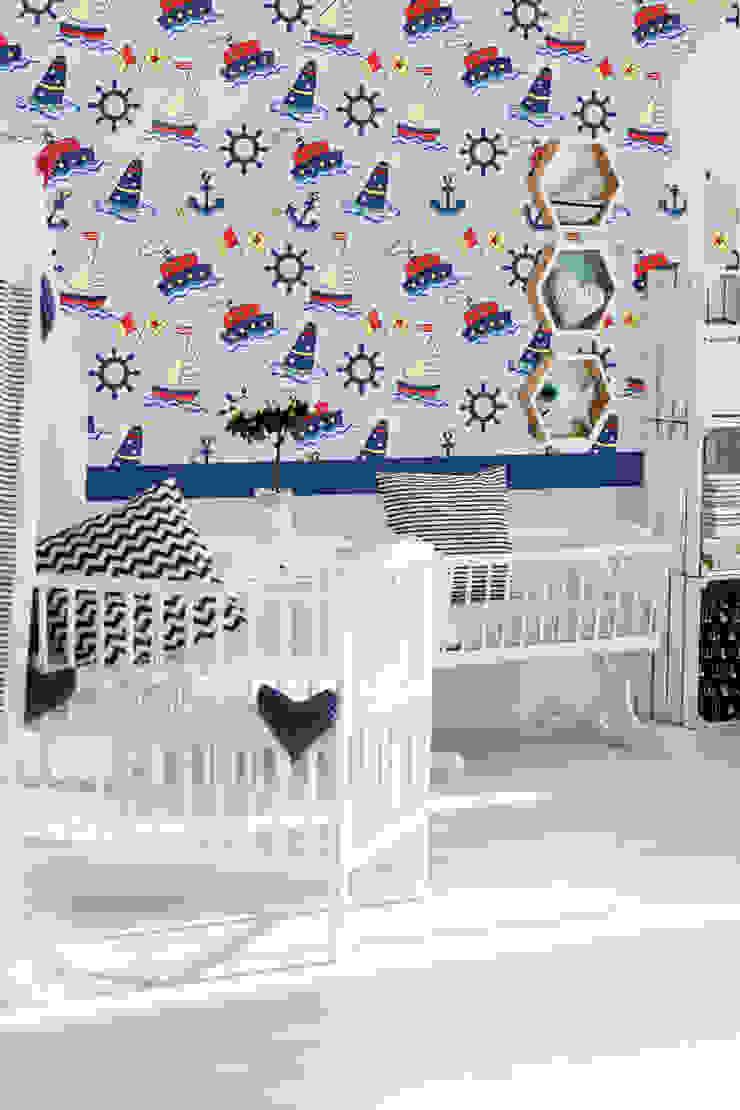 Papel tapiz personalizado en recámara bebés. de Kromart Wallcoverings - Papel Tapiz Personalizado Moderno