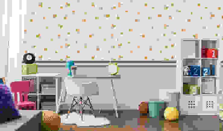 Papel tapiz personalizado en recámara niñas. de Kromart Wallcoverings - Papel Tapiz Personalizado Moderno