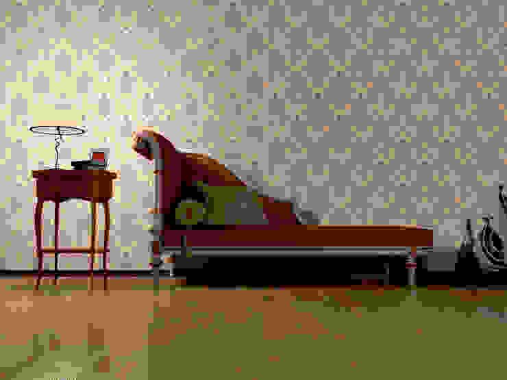 Papel tapiz personalizado en vestíbulo/recibidor. Pasillos, vestíbulos y escaleras de estilo clásico de Kromart Wallcoverings - Papel Tapiz Personalizado Clásico