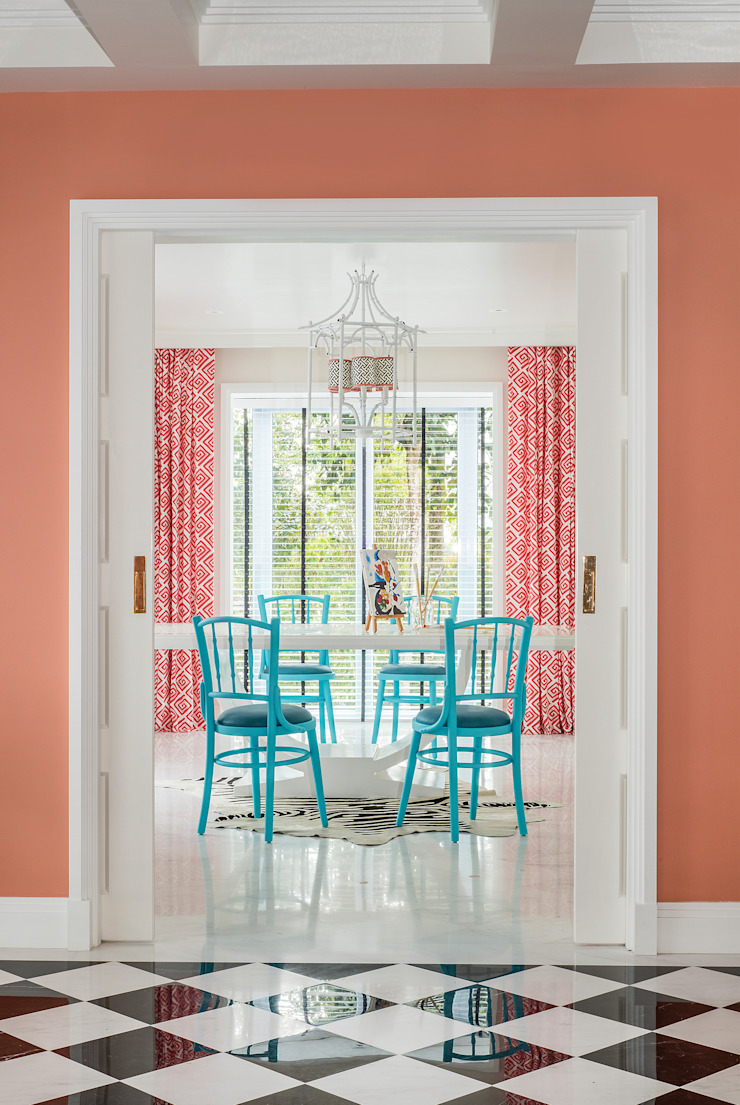 Chinoiserie Dining Room by Design Intervention Asian style dining room by Design Intervention Asian