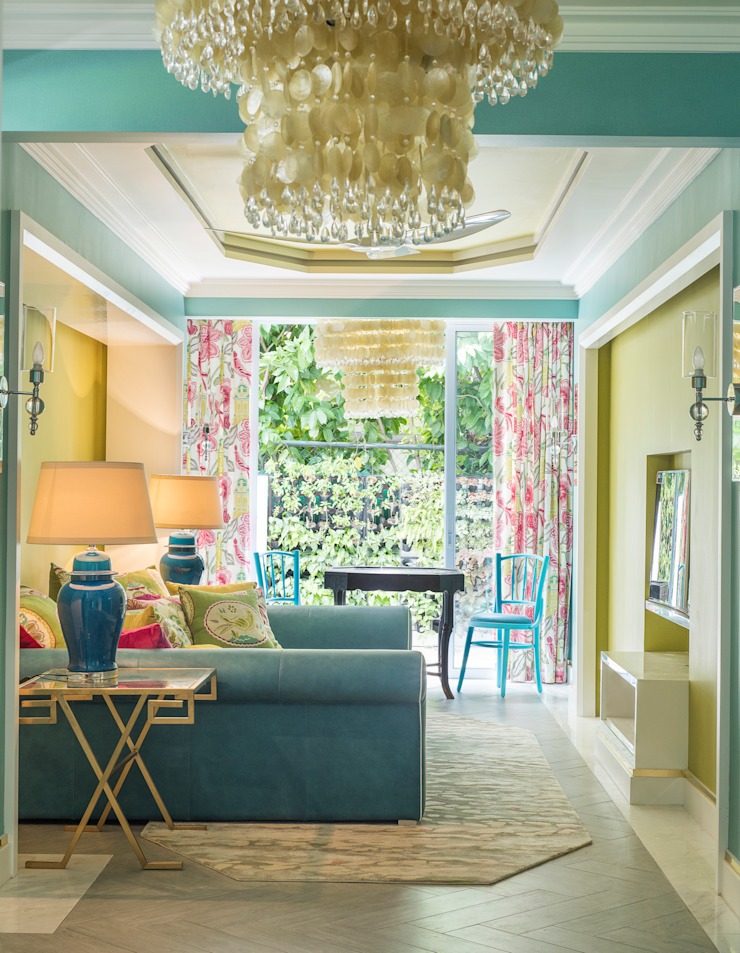 Chinoiserie Media Room by Design Intervention Asian style media room by Design Intervention Asian