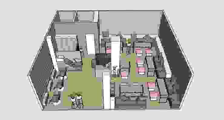 Espaços comerciais minimalistas por EP+1 Arquitectos Minimalista