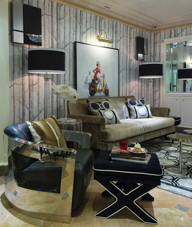 Maximalist Bespoke Furniture by Design Intervention Modern living room by Design Intervention Modern