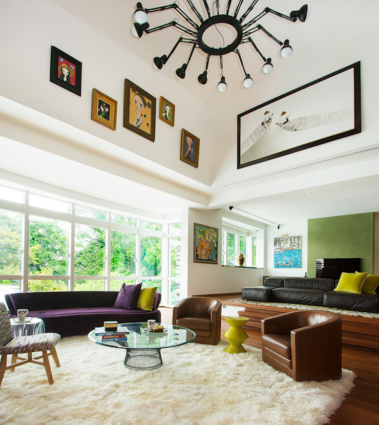 Modern Eclectic Living Room by Design Intervention Eclectic style living room by Design Intervention Eclectic