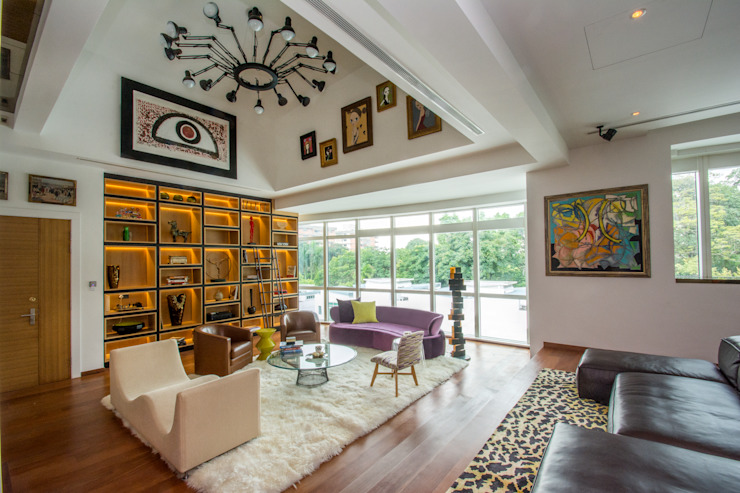 Eclectic Living Room by Design Intervention Eclectic style living room by Design Intervention Eclectic
