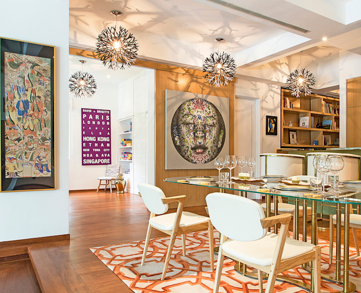 Modern Eclectic Dining Area by Design Intervention Eclectic style dining room by Design Intervention Eclectic