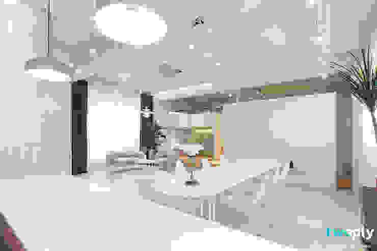 가족을 위한 공간 - 팔레트 (전주 광주 대전 대구 인테리어) 모던스타일 다이닝 룸 by 디자인투플라이 모던