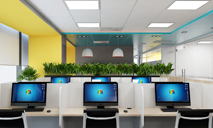 thiết kế nội thất văn phòng SEN office hiện đại & độc đáo tại gò vấp tp HCM Phòng học/văn phòng phong cách hiện đại bởi công ty thiết kế văn phòng hiện đại CEEB Hiện đại