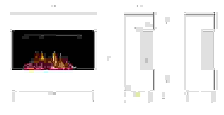 Planungssicherheit mit detaillierten Zeichnungen muenkel design - Elektrokamine aus Großentaft WohnzimmerKamin und Zubehör