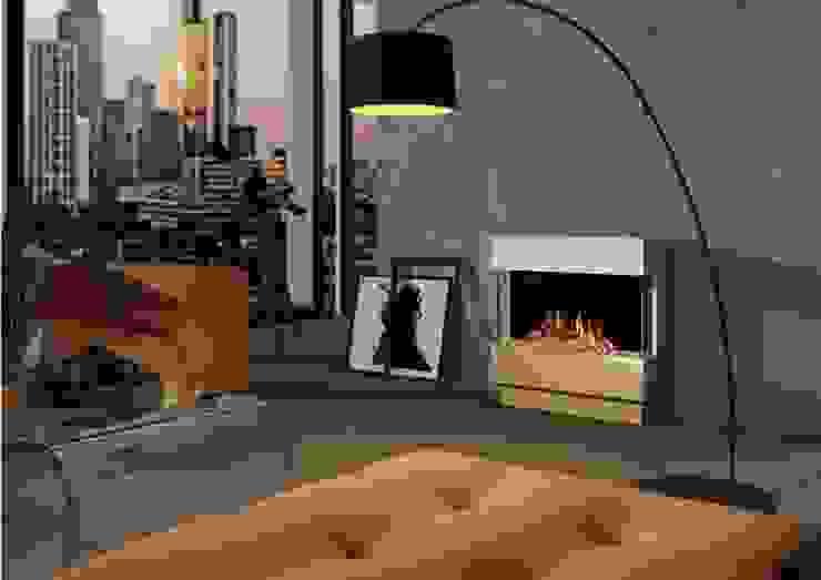 Begrü´ßen Sie Ihre Kunden mit Wärme und Gemütlichkeit muenkel design - Elektrokamine aus Großentaft Geschäftsräume & Stores