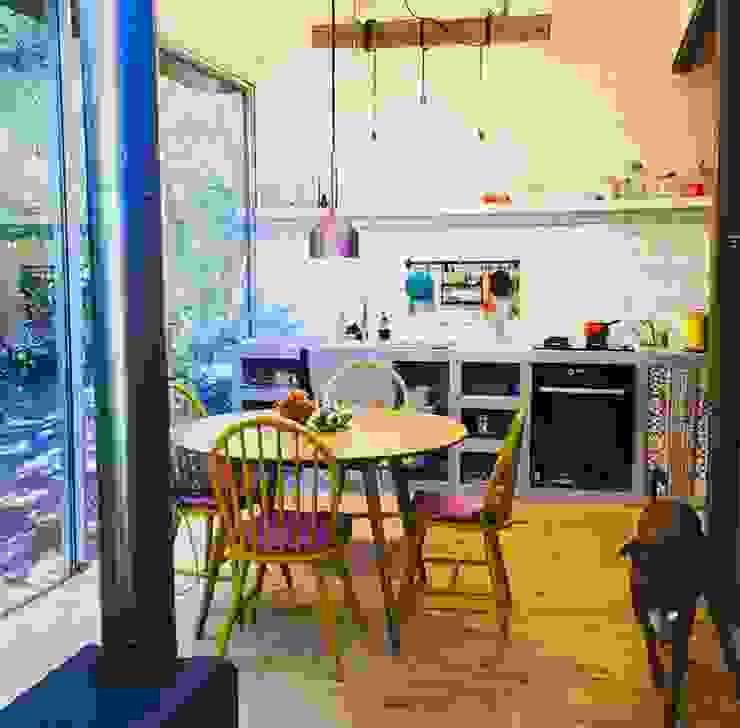Bếp nhỏ theo INFINISKI, Đồng quê Bê tông