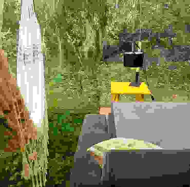 Huerto interior en living Livings de estilo moderno de INFINISKI Moderno
