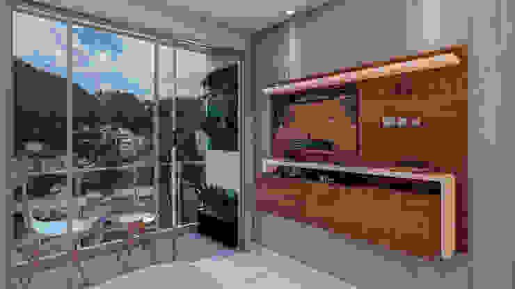 VISTA A LOS CERROS Habitaciones modernas de Constructora Cosenza Moderno