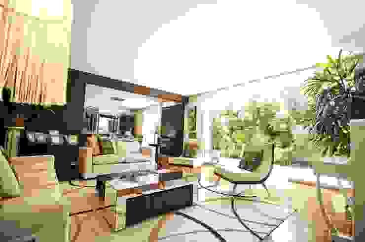 Lujosa Residencia ORGANICA ARQUITECTURA Salas modernas