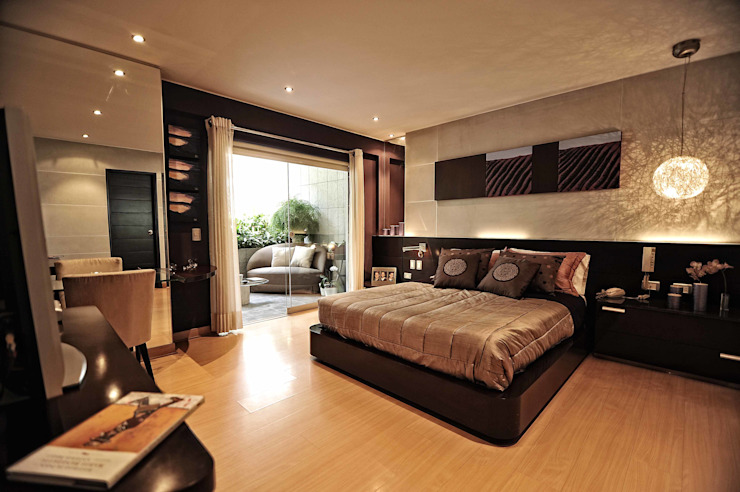Lujosa Residencia ORGANICA ARQUITECTURA Dormitorios de estilo moderno