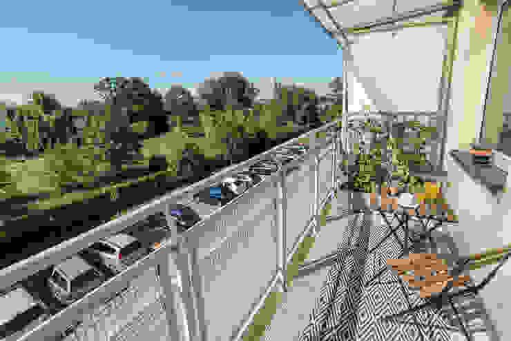 Home Staging na balkonie Miejskie Ziele Balkon
