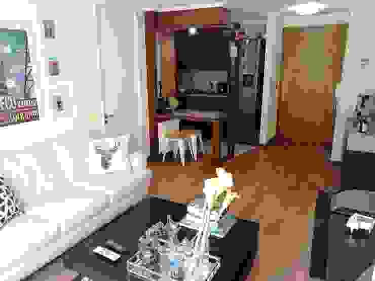 LIVING Y COCINA ORIGINALES de Estudio Arquitectura y construccion PR/ Remodelaciones y Diseño de interiores / Santiago, Rancagua y Viña del mar