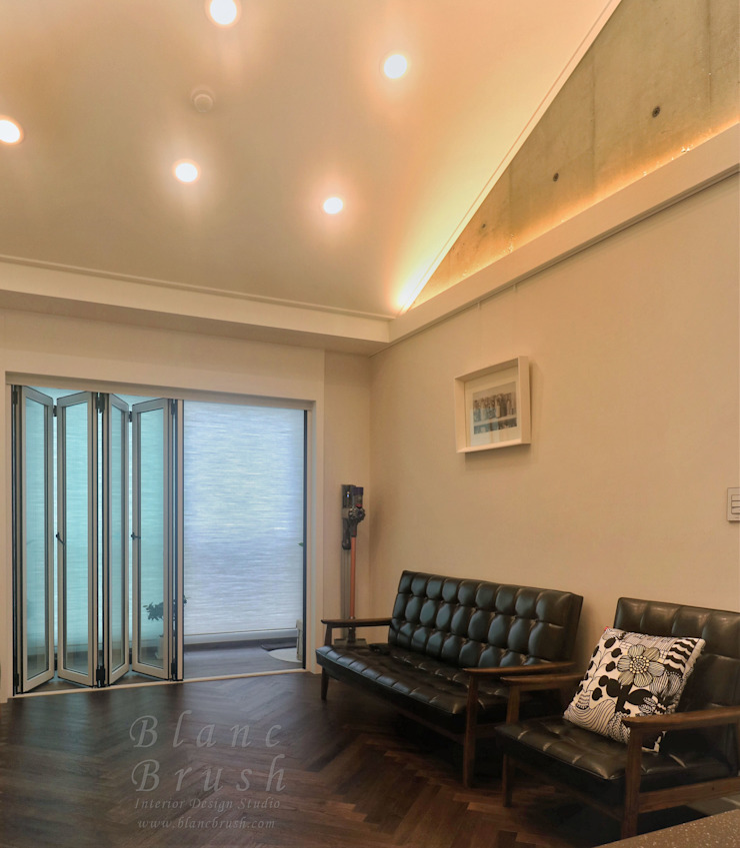 금곡동 청솔마을 공무원 아파트 5단지 24평형 인테리어 모던스타일 거실 by 블랑브러쉬 모던